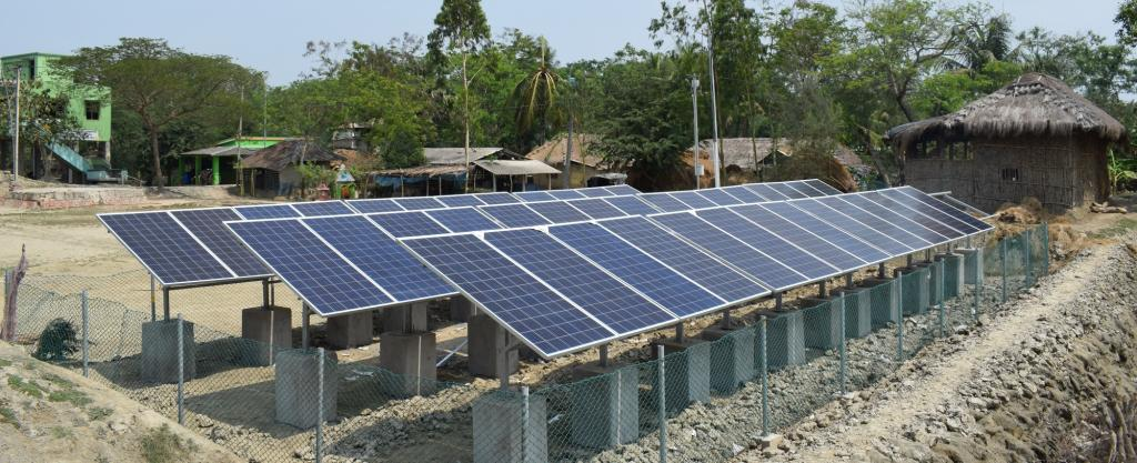 Solar micro-grid at Satjelia, Sunderbans. A part of the island within Gosaba block has managed to get some 'light'— through solar micro-grids.