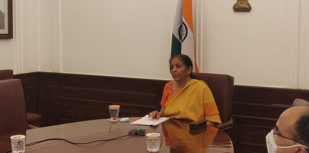 The finance ministry announced on June 5 that there will be no new government schemes for at least a year. Photo: Nirmala Sitharaman's Twitter account