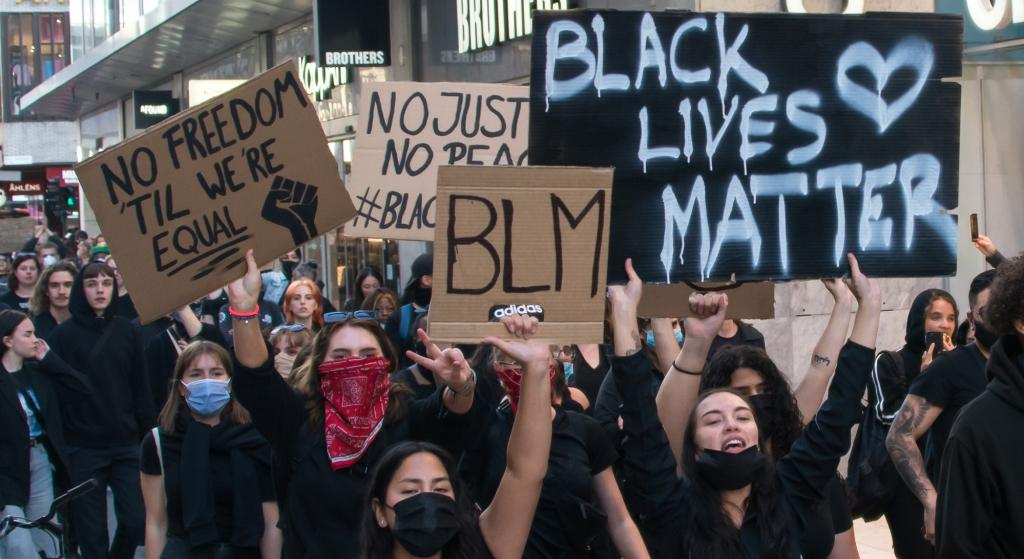 A Black Lives Matter protest in Stockholm in 2020 over the death of George Floyd. Photo: Wikimedia Commons