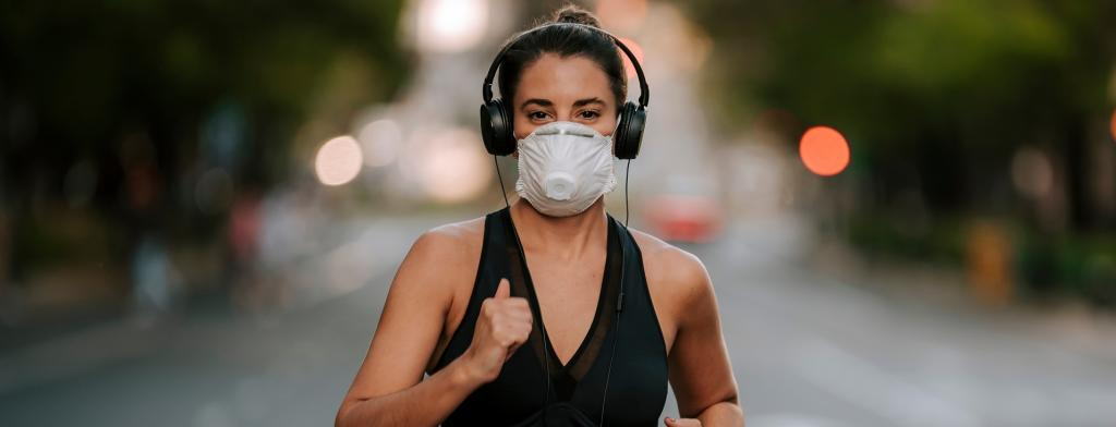 At low to moderate-intensity exercise, effort will feel slightly harder than normal with a mask Photo: Daniel Carpio/Shutterstock