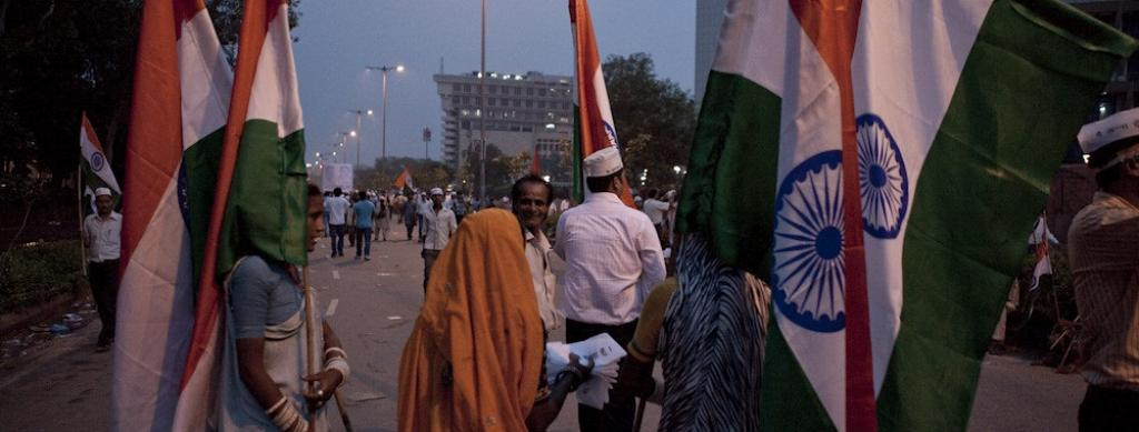 At an Anna Hazare rally. Photo: Flickr