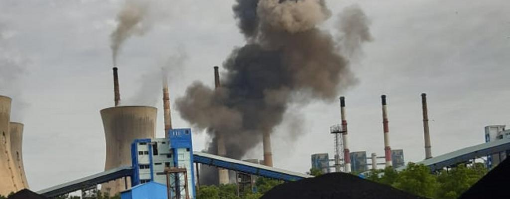 A boiler at the Neyveli Lignite Thermal Power Station (NLTPS) in Tamil Nadu's Cuddalore exploded July 1, when workers were about to resume operations. Photo: Thol Thirumavalavan @thirumaofficial / Twitter