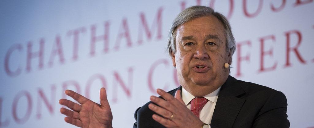 UN General Secretary Antonio Guterres called for a clean energy future. Photo: Flickr