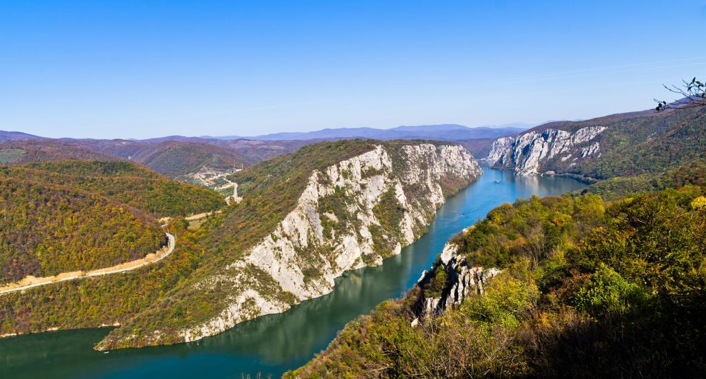 The Djerdap geopark in the northeast of Serbia, features very diverse geology. The most striking natural phenomenon in the geopark is the Djerdap Gorge, the longest in Europe. The gorge was carved by the Danube. Photo: iStock