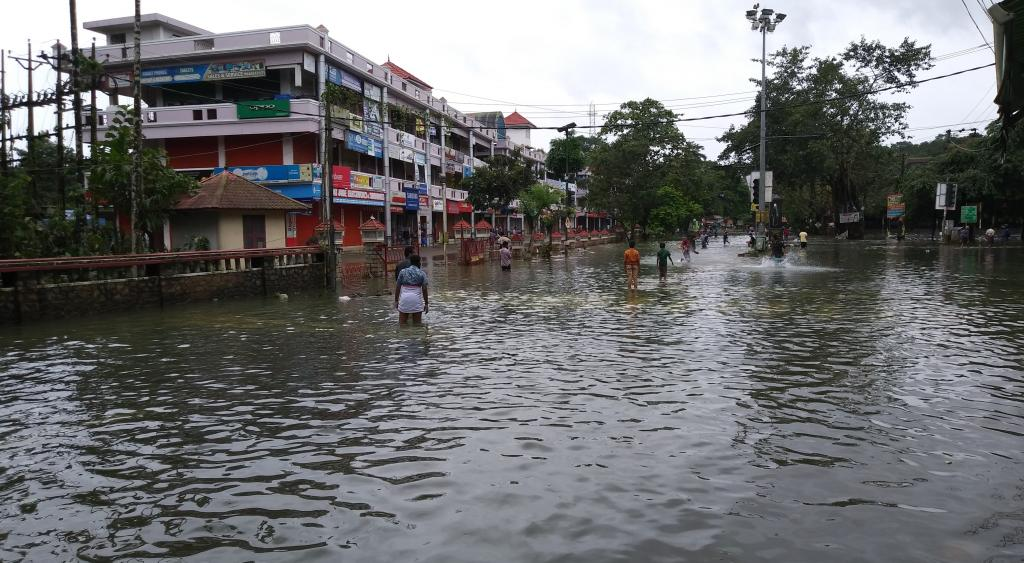 In Pala, a town in Kerala, during 2018 floods. Photo: Wikimedia Commons