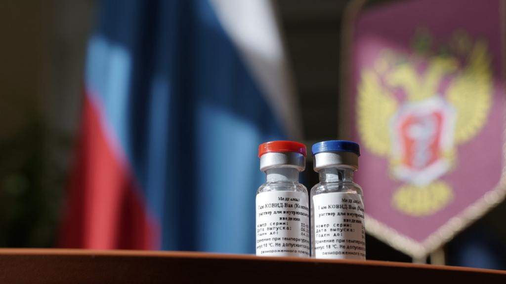On Aug. 11, Russian President Vladimir Putin announced that a coronavirus vaccine developed in the country has been registered for use. Russian Health Ministry/Handout / Anadolu Agency via Getty Images