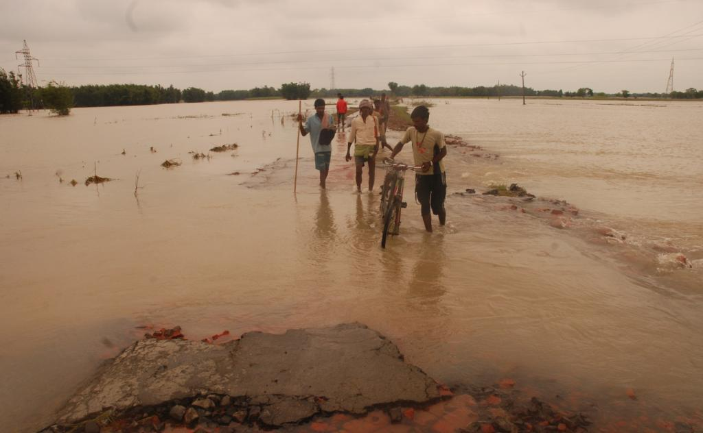 In the past few decades, floods in north Bihar have almost became a yearly phenomenon, though their intensity varies from year to year. Photo: Agnimirh Basu