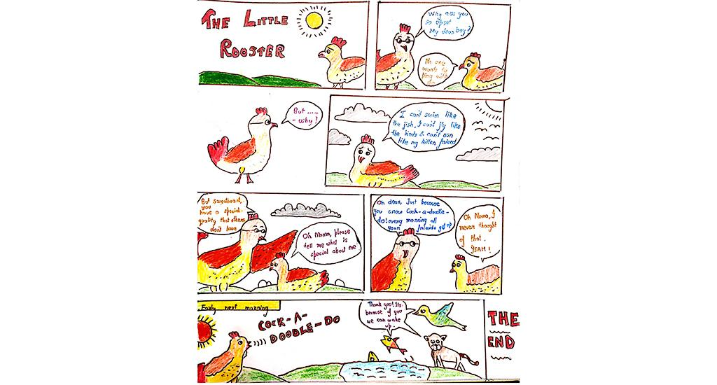 This comic was made by Aiman Tanish. It was part of the online workshops conducted by Gobar Times and Green Schools Programme in June 2020.
