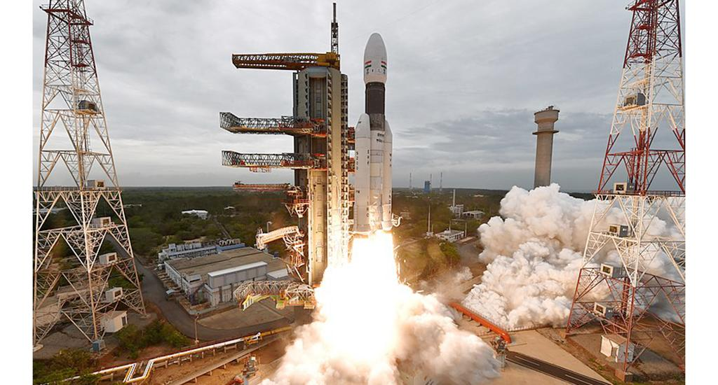 Chandrayaan-2 lifting off on 22 July, 2019. It completed one year in orbit around the moon on August 20, 2020. All instruments are currently performing well, according to space agency Indian Space Research Organisation (ISRO). Photo: Wikipedia