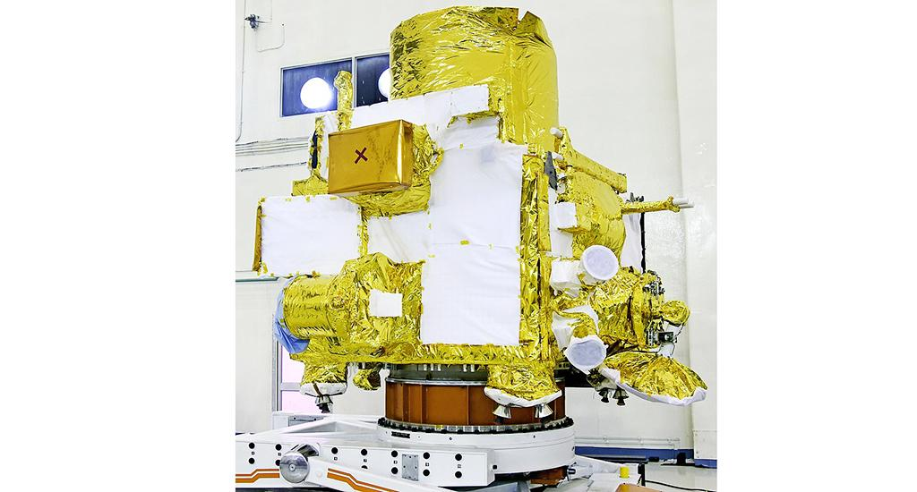 Chandrayaan-2 orbiter at integration facility. ISRO said there is adequate on-board fuel to keep it operational for about seven more years. Photo: Wikipedia