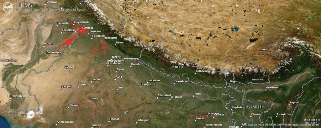 Nasa Fire Satalite Image Data