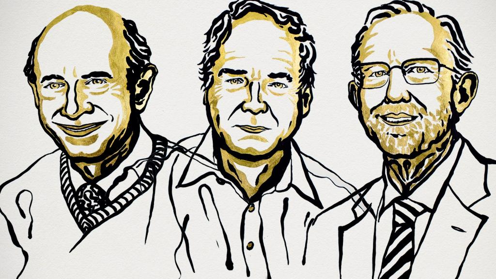 (From left) Harvey J Alter, Michael Houghton and Charles M Rice. Photo: The Nobel Prize Twitter handle / @NobelPrize