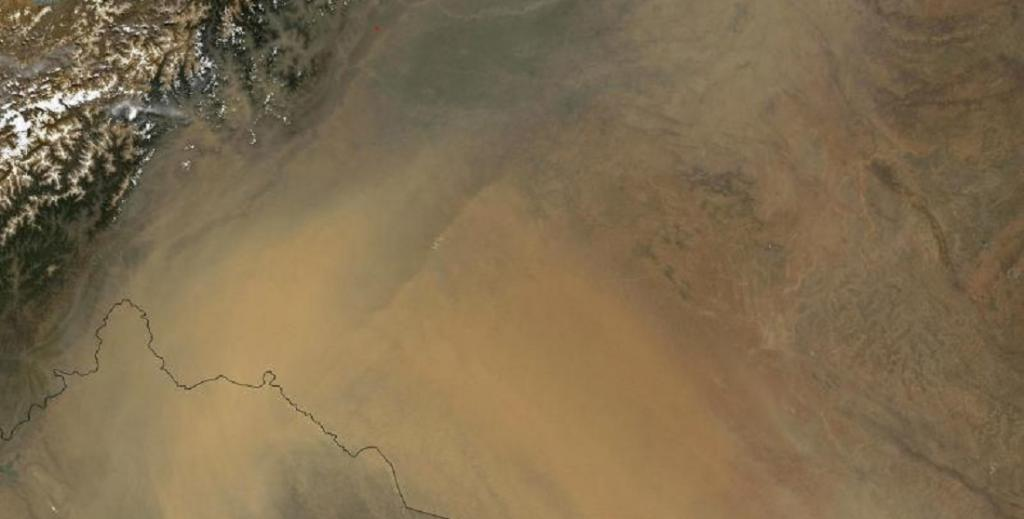 Global Eco Watch: Dust causing rapid snow and ice melt in western Himalayas. Photo: pnnl.gov