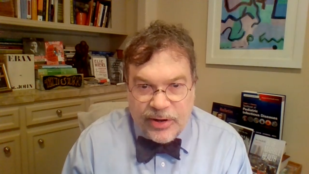 Vaccinologist Peter Hotez during a video interview with Down To Earth.