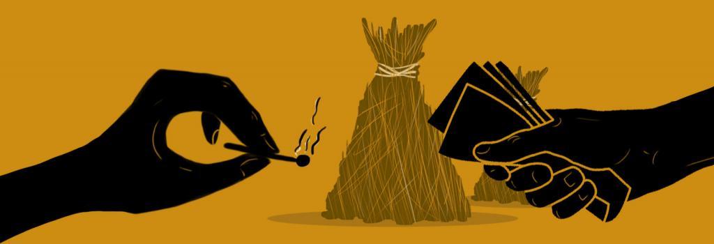 Last straw to stubble burning by Sunita Narain. Illustration: Ritika Bohra