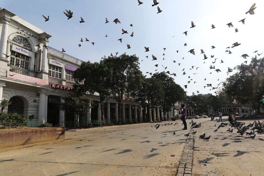 लॉकडाउन के समय दिल्ली में सूनी पड़ी सड़कें, फोटो: विकास चौधरी