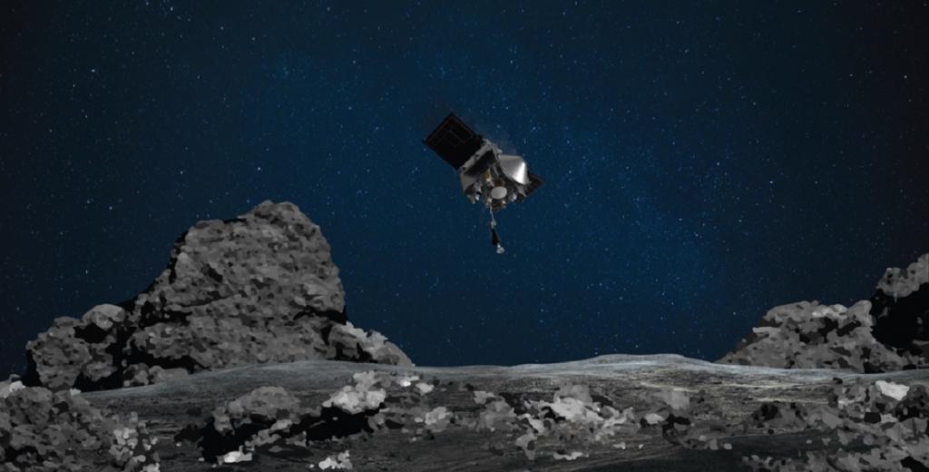 NASA's OSIRIS-REx will land on an asteroid to bring home rocks and dust – if it can avoid Mt. Doom. Photo: NASA/Goddard/University of Arizona