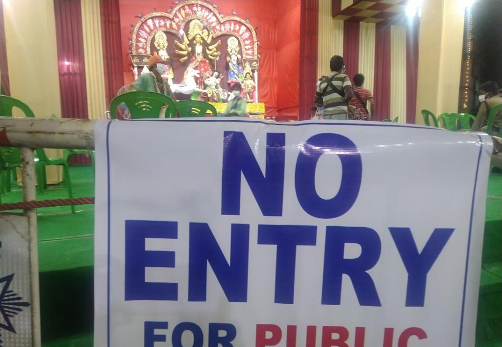 COVID-19: Will Bengal come out of Pujo season unscathed. Photo: Jayanta Basu