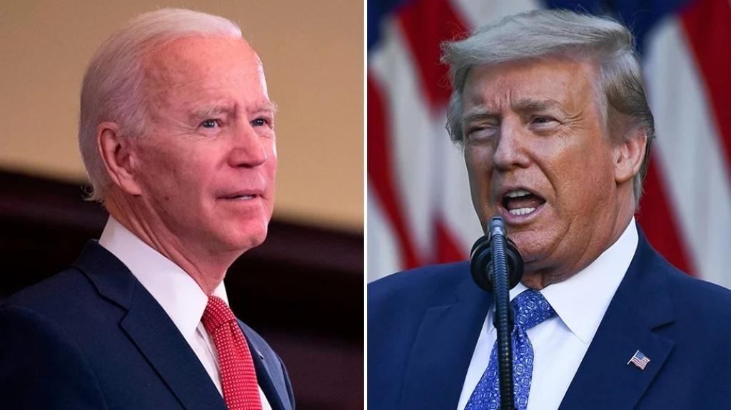 (L) Joe Biden and (R) Donald Trump. Photo: @thehill / Twitter