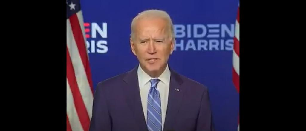 Joe Biden's electoral victory proves that democracy can work for science and environmental justice. Photo: Screengrab from @joebiden
