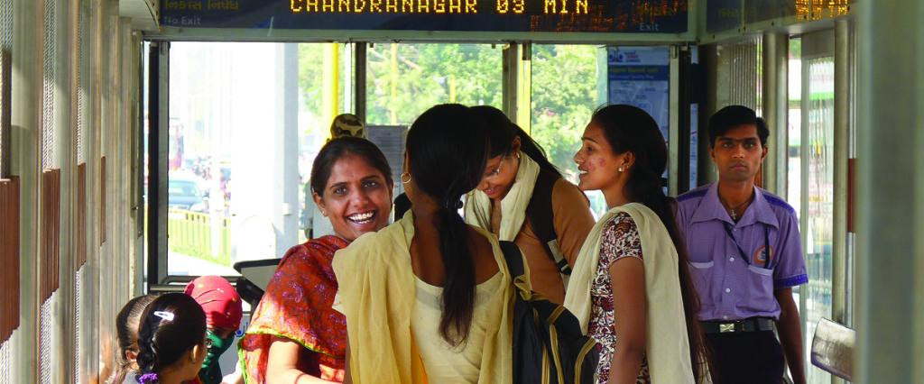Women have a higher dependence on public transport than men. Photo: ITDP India