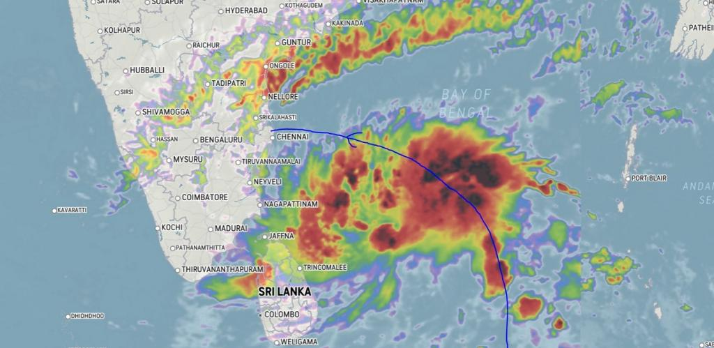 Cyclone brewing in Bay of Bengal; could make landfall on November 25: IMD. Photo: @ImAssassin7 / Twitter