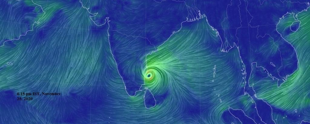 Nivar: Agriculture across south India could be affected by storm surges, rains. Photo: Earth Null School