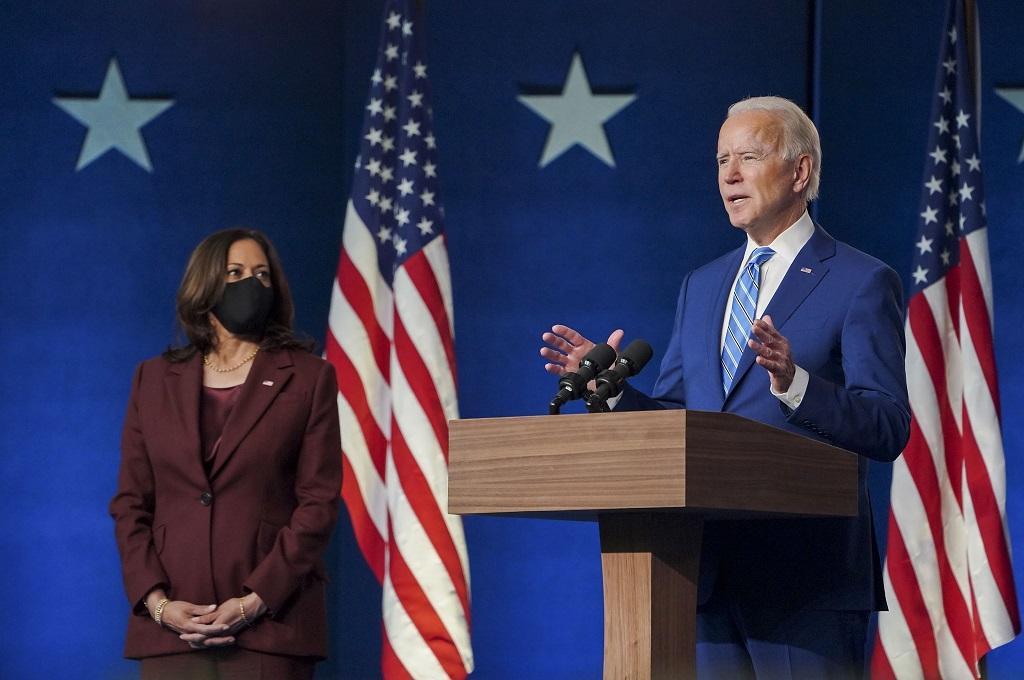 अमेरिका के नए राष्ट्रपति जो बाइडन और उपराष्ट्रपति कमला हैरिस। Photo: twitter/@JoeBiden