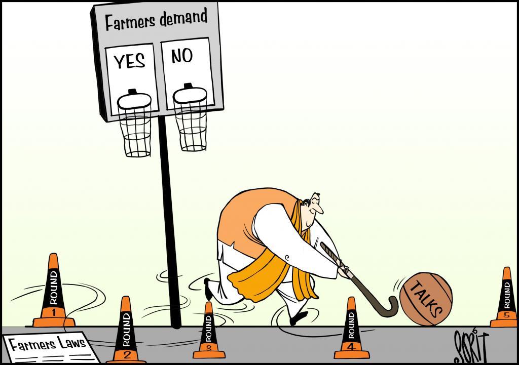 Simply Put: Farmers yes-no. Illustration: Sorit Gupto