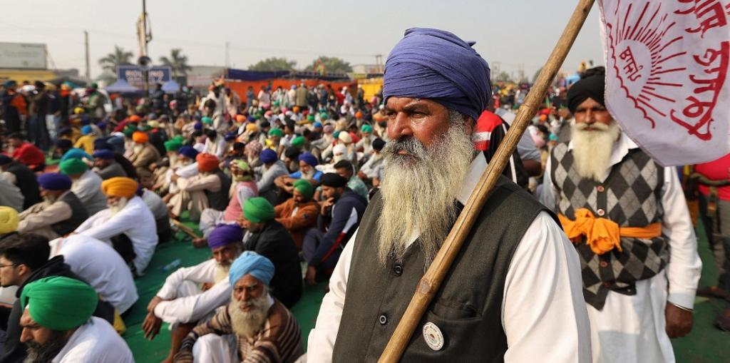 Indian farmers protested more widely even as they produced historic harvests this year. Photo: Vikas Choudhary / CSE