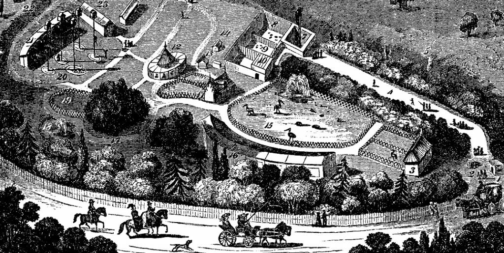 The Regent's Park Zoo in London, established in the 1800s was inspired by the Barrackpore Zoo built by Lord Wellesley. Photo: Wikimedia Commons