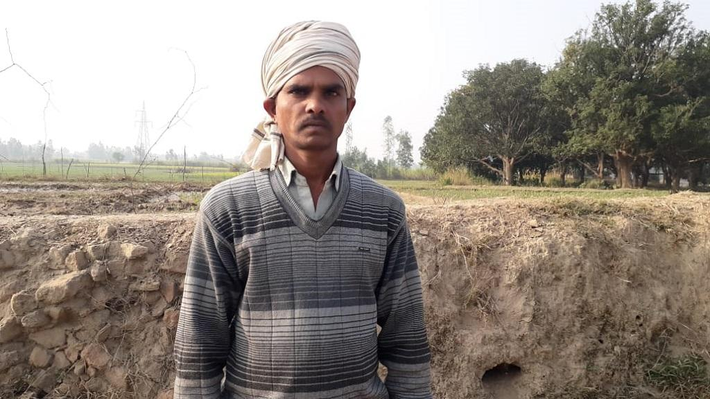 उत्तर प्रदेश के सीतापुर जिले के बरोए गांव के रहने वाले किसान संजय कुमार। फोटो: रणविजय सिंह