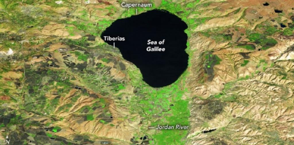 Global Eco Watch: Drying Sea of Galilee swells after years of drought. Photo: NASA