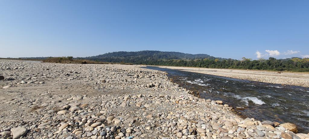 Pakke river, which flows alongside Seijosa, got widened from a stream around 25 metres wide to one kilometre during the catastrophic flash floods of 2004. Photo: Sunny Gautam
