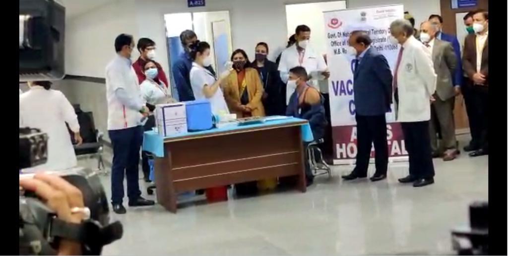 COVID-19 vaccination drive for India starts in AIIMS, New Delhi