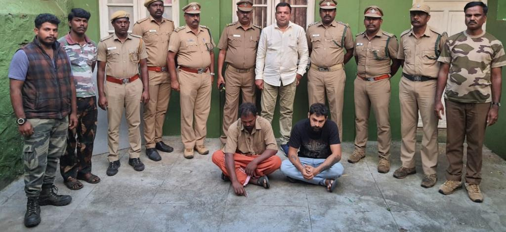 The two persons who have been arrested in connection with the case. Photo: TN Forest Department