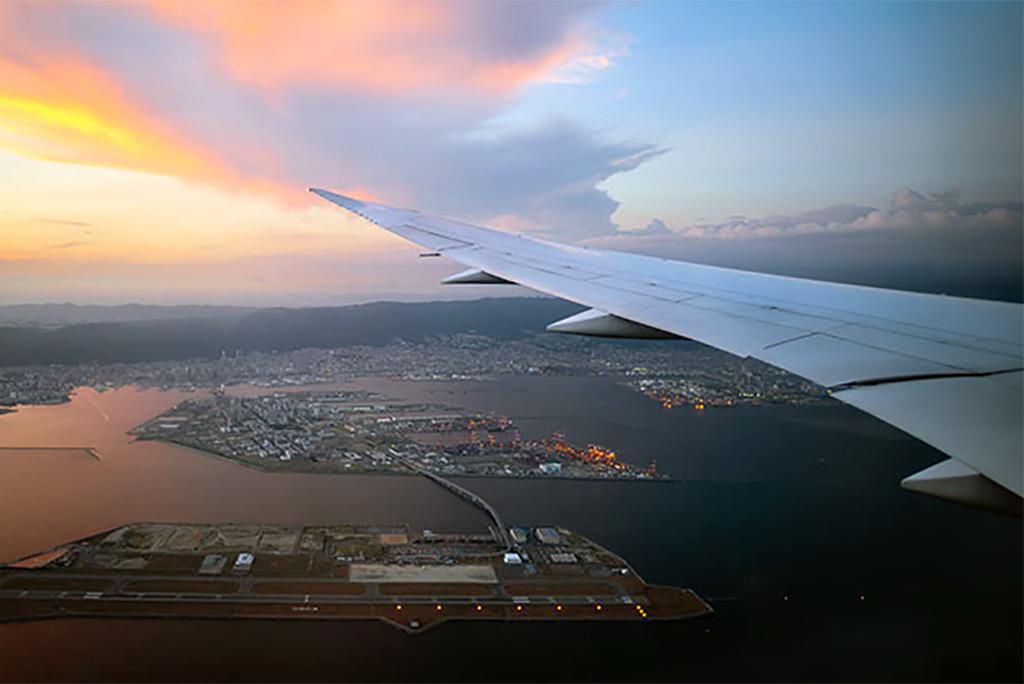 2018 में बाढ़ का शिकार जापान का कंसाई एयरपोर्ट; फोटो: न्यूकैसल विश्वविद्यालय