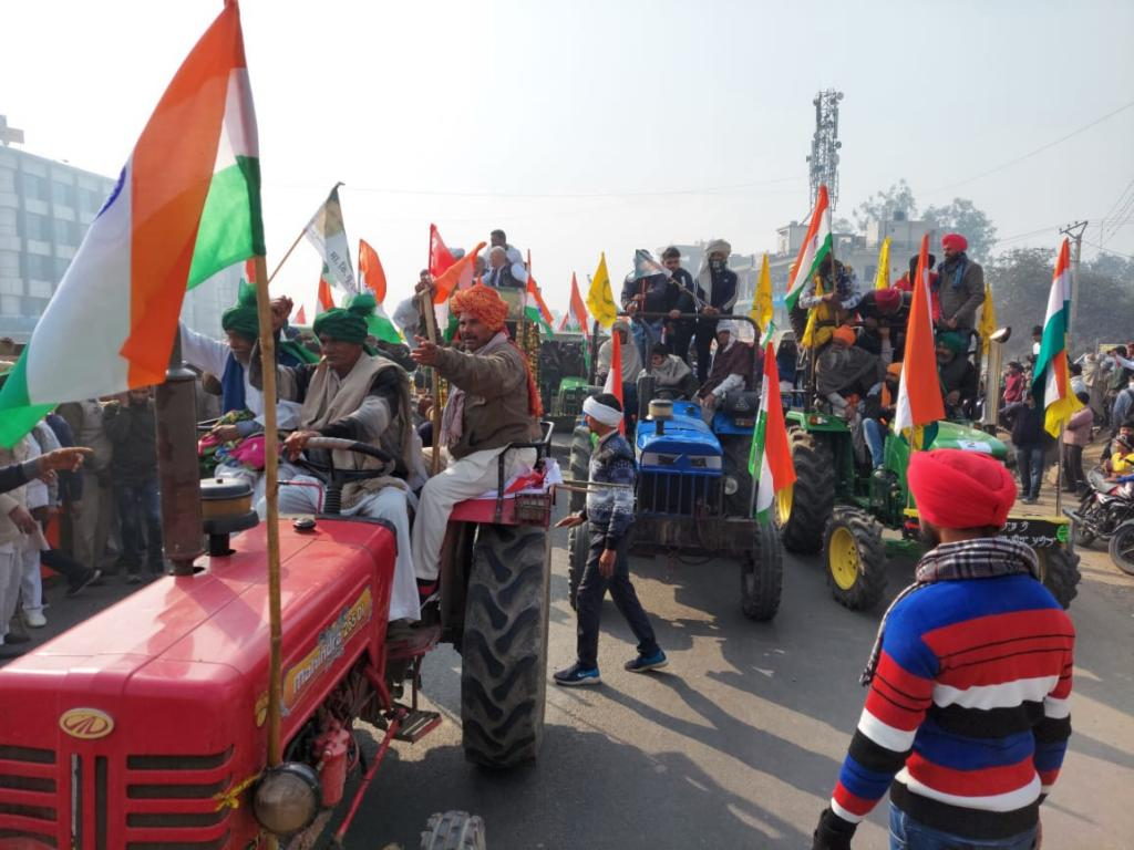 Farmers; tractor rally on Republic Day 2021. Photo: Sunny Gautam