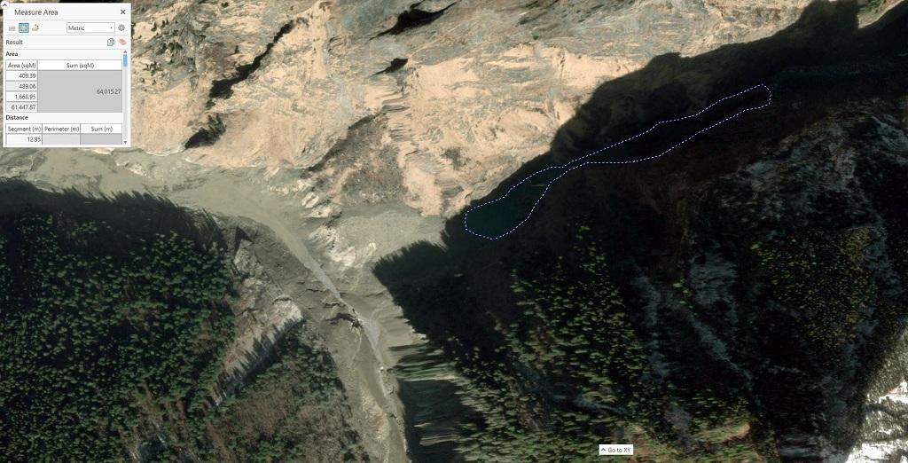 ऋषिगंगा में एक झील बनने के बाद प्रशासन सचेत हो गया है। Phtoto: twitter/ Dr Dan Shugar @WaterSHEDLab