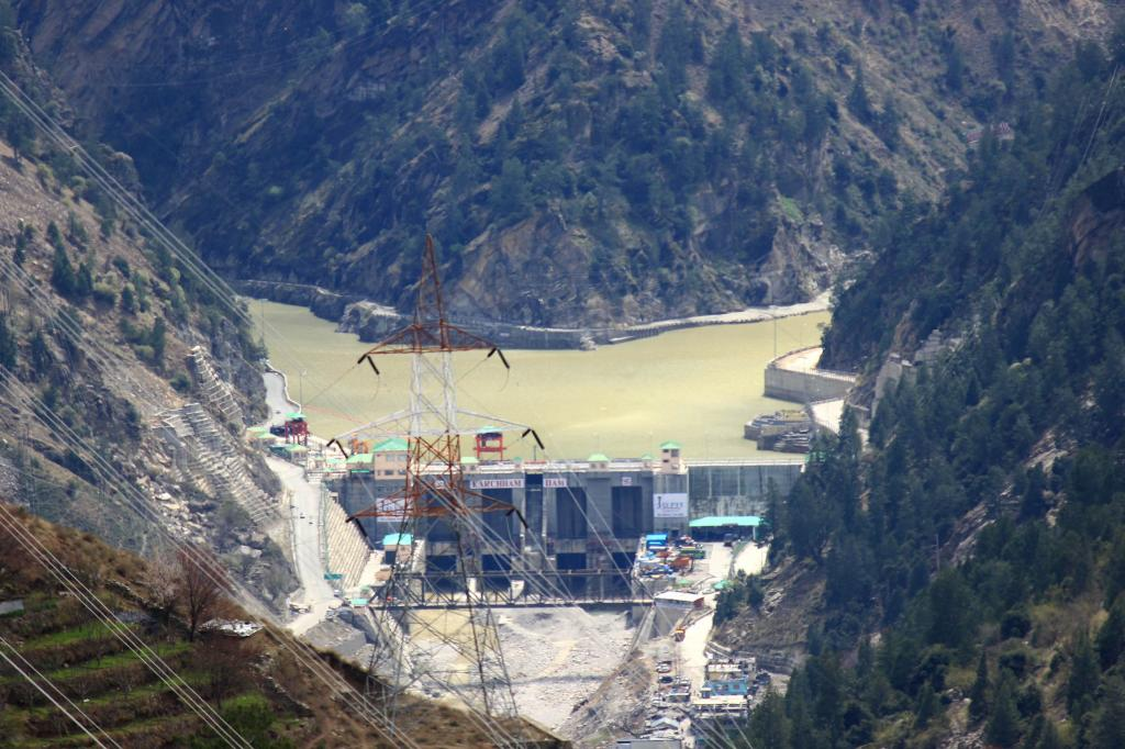 Dam site of Karcham Wangtoo Hydro Project at Karcham, Kinnaur. Most of Himachal's hydropower projects in operation or under construction fall in areas highly vulnerable areas. Photo: Wikimedia Commons