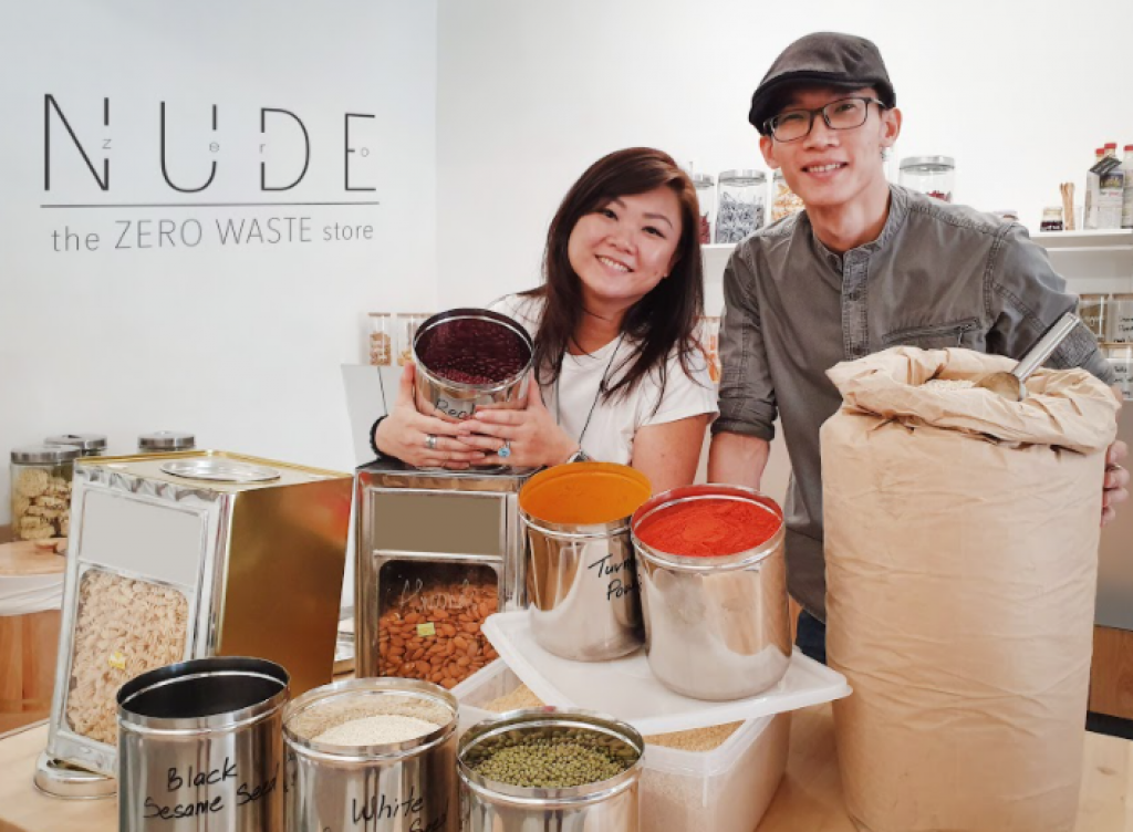 Co-founders Cheryl Anne Low and Wilson Chin conceptualised NUDE as a lifestyle store catering to customers who care for the environment.