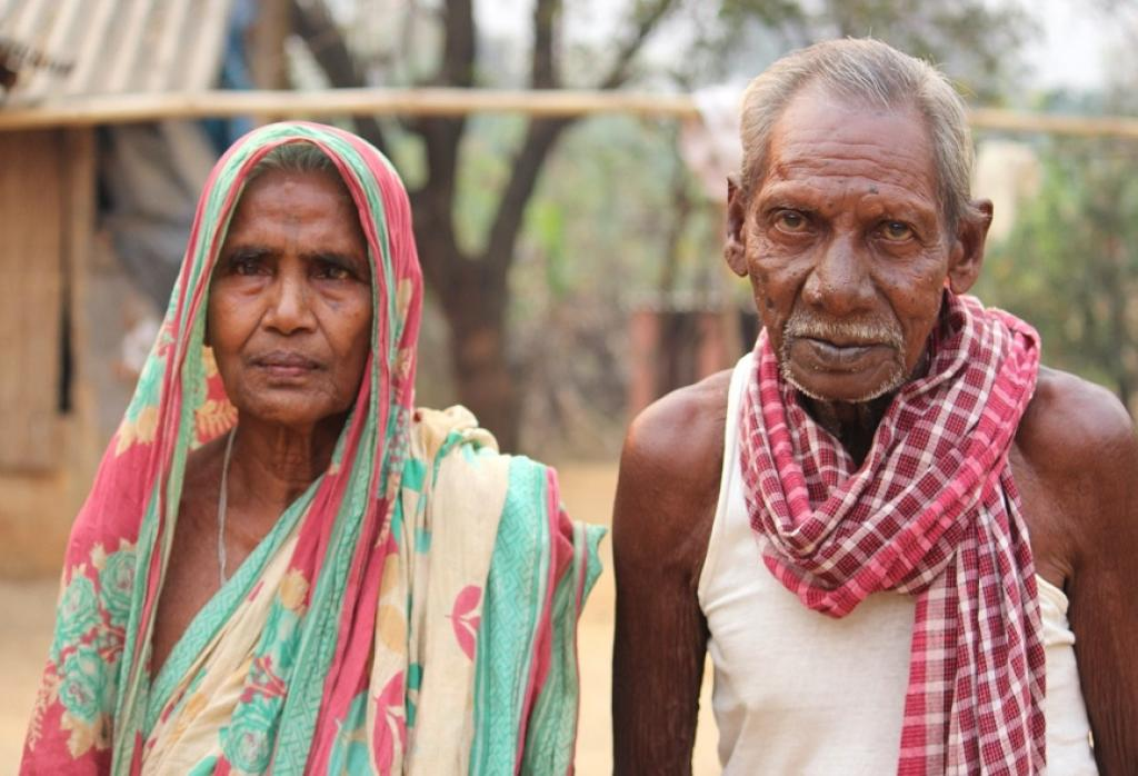 Budhia Bhodta and his wife in Champagarh village of Odisha's Mayurbhanj district. Photo Credit: Abhijit Mohanty