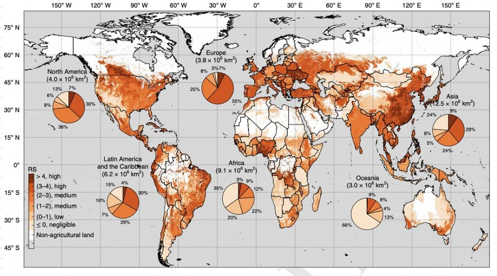 a global map of 168 countries facing pollution risk caused by 92 chemicals commonly used in agricultural pesticides.