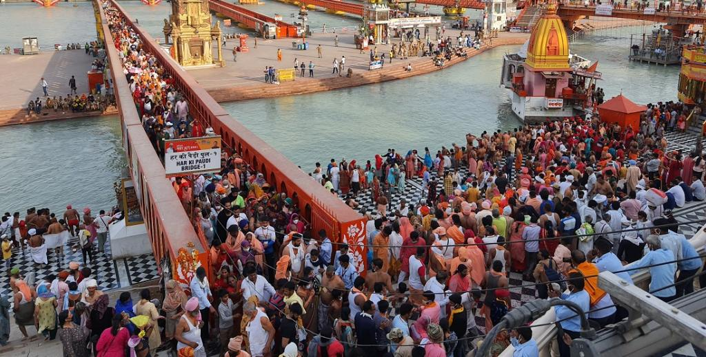 Kumbh amid COVID-19: Protocol sinks as over 3 million take a dip