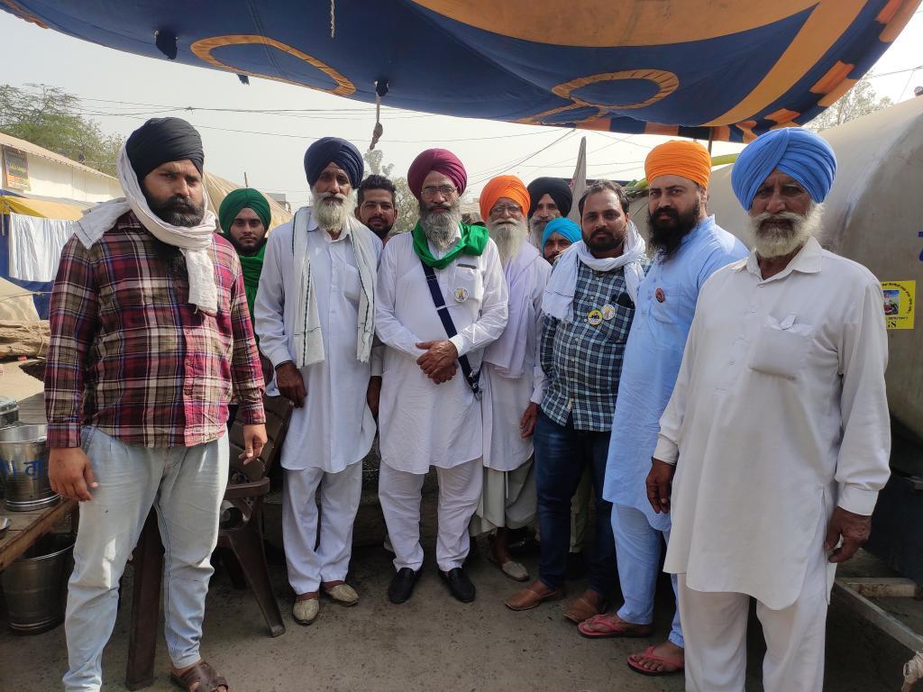 Protesting farmers at Singhu. Photo: Shagun Kapil