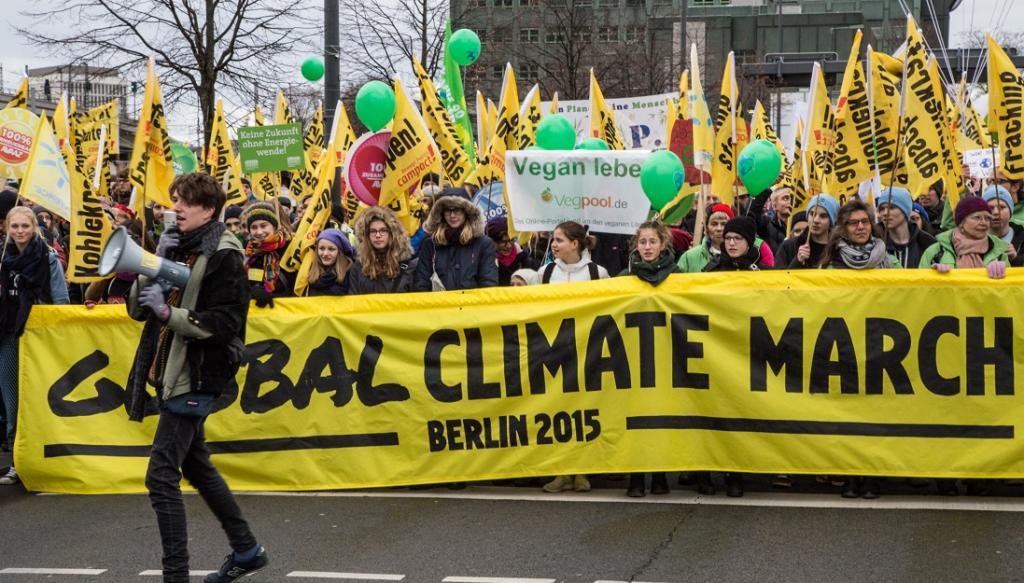 The Global Climate March in Berlin in 2015. Photo: mw238 via Wikimedia