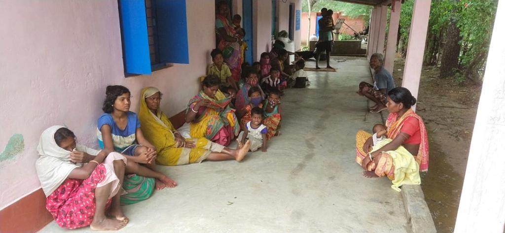 A school-turned-shelter in a village in Sadar block, Balasore. Photo: Hrusikesh Mohanty