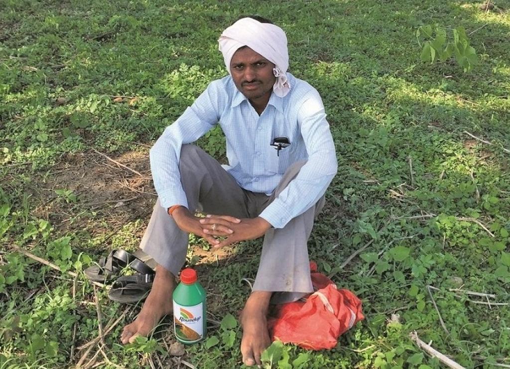 Glyphosate is a lethal, carcinogenic pesticide. Credit: Vibha varshney/CSE