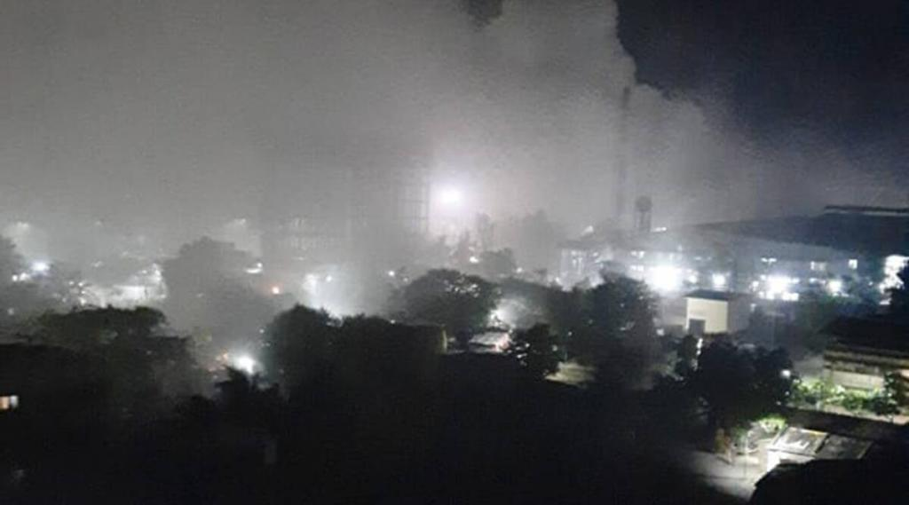 A gas leak from a chemical factory in Badlapaur in Maharashtra's Thane district triggered panic late June 4, 2021 night. Photo: Twitter