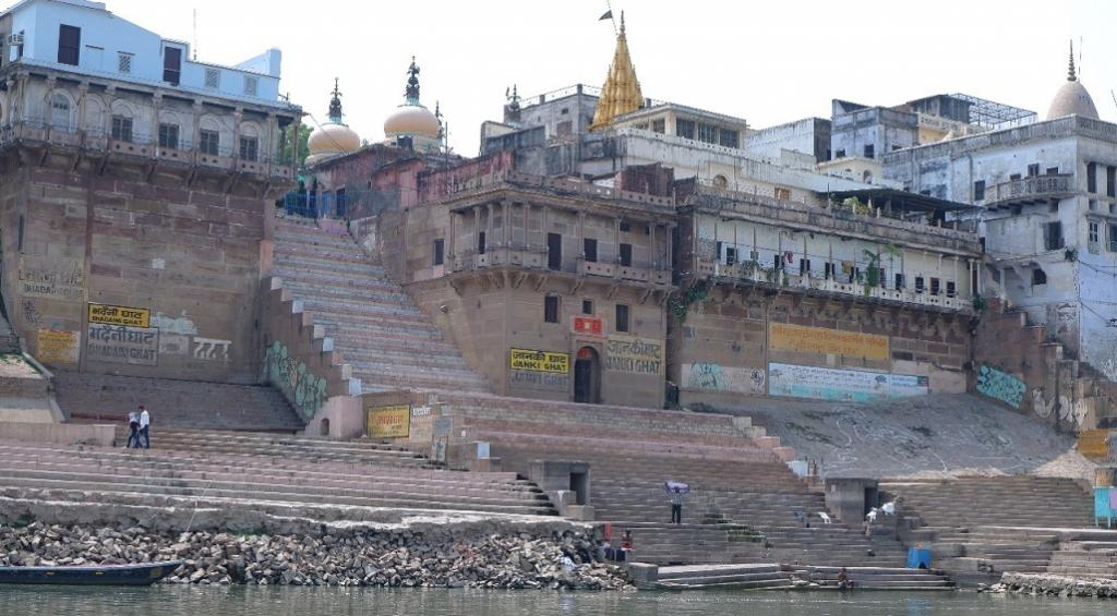 The world-famous ghats or bathing platforms on the Ganga in Varanasi have been mostly vacant ever since the COVID-19 pandemic broke out. Photo: Dhruval Parekh.